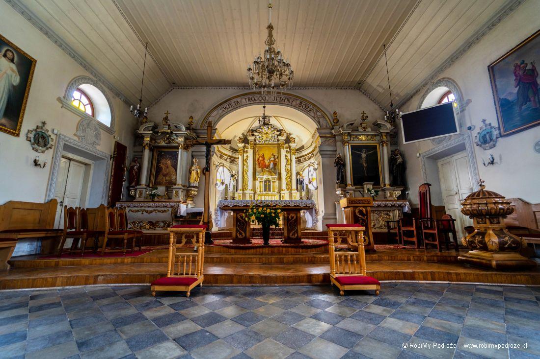 wnętrze kościoła św.Trójcy