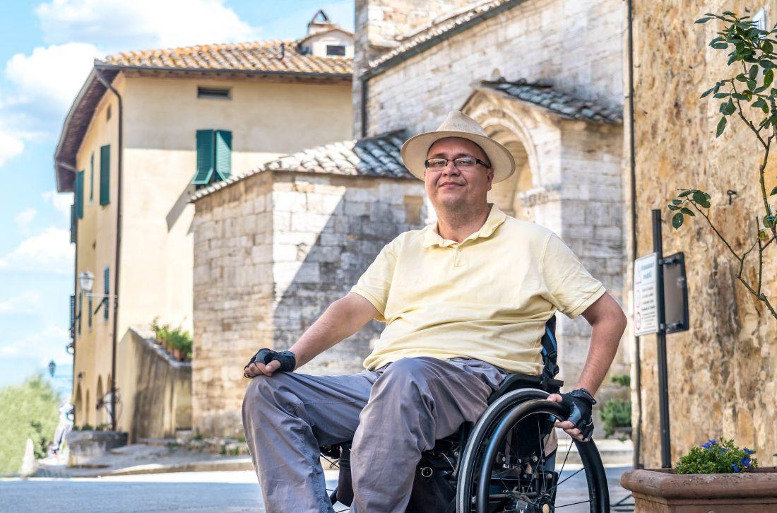 Dolina Val d'Orcia dla niepełnosprawnych