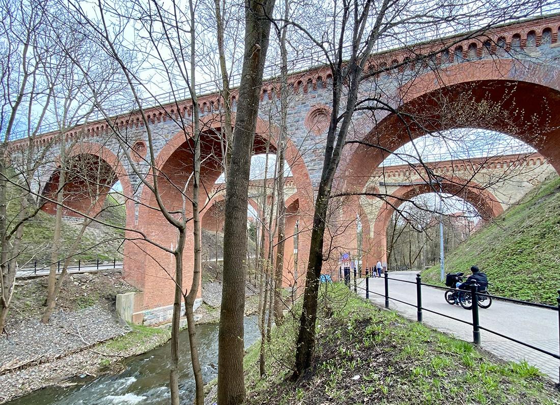 zabytkowe mosty kolejowe wOlsztynie