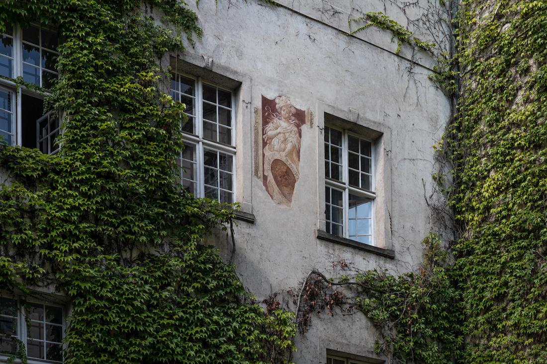 freski naścianach zamku