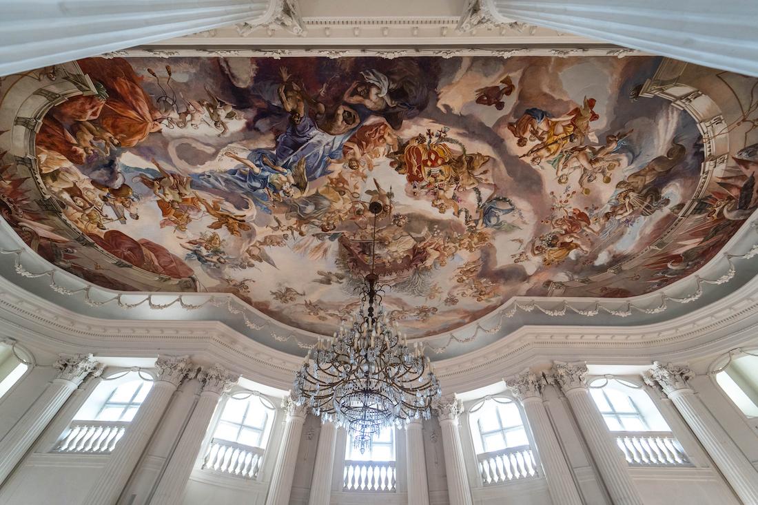 plafon wsali balowej zamku