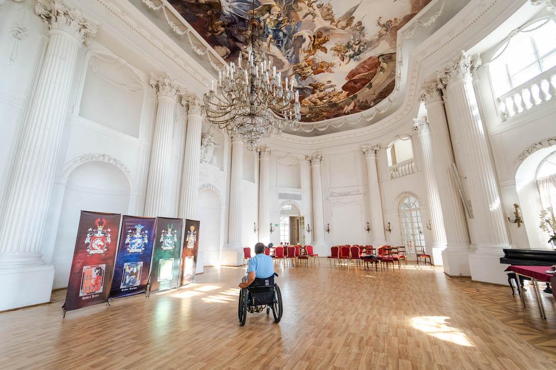 zamek wRydzynie dla niepełnosprawnych