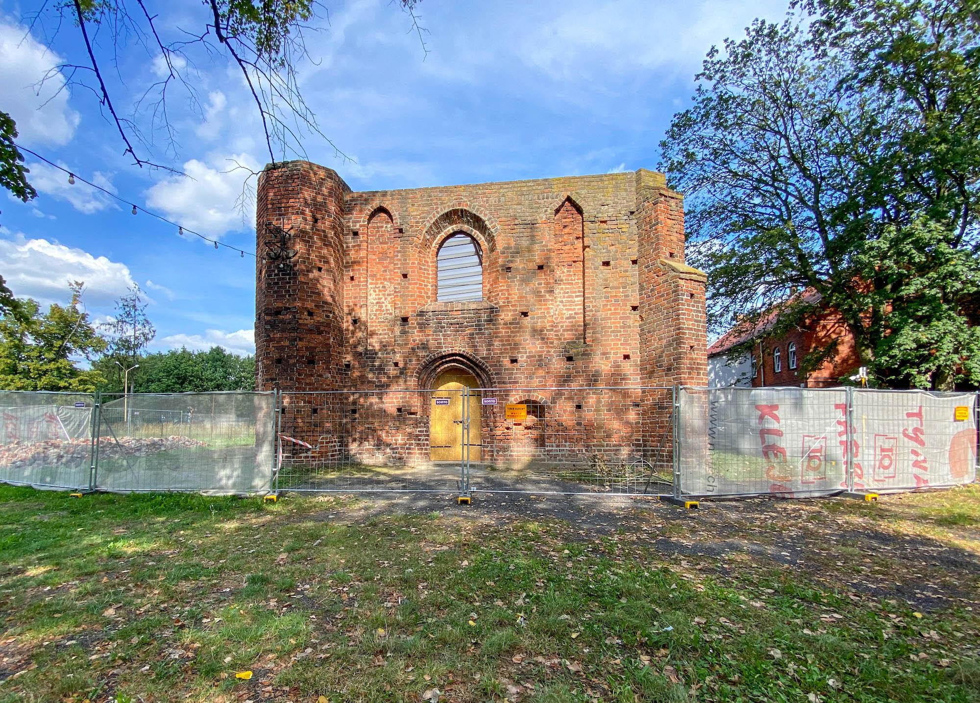 ruiny kościoła św. Ducha wJarocinie
