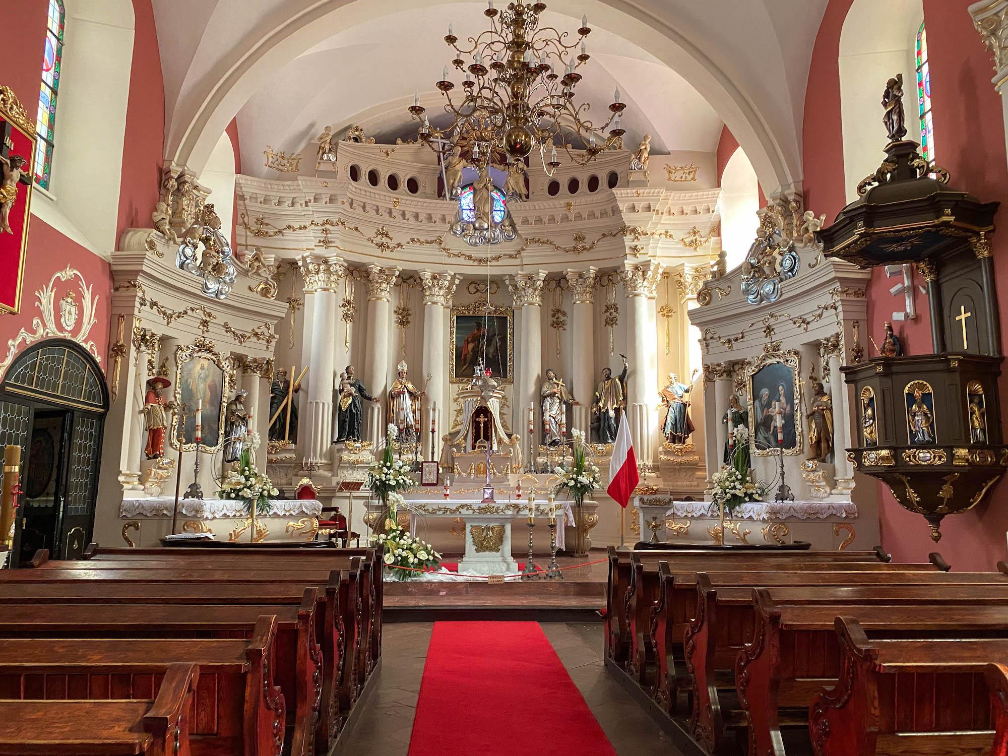 wnętrze kościoła św. Marcina wJarocinie